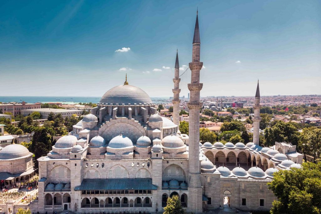 The Suleymaniye Mosque is an Ottoman Imperial Mosque - İstanbul